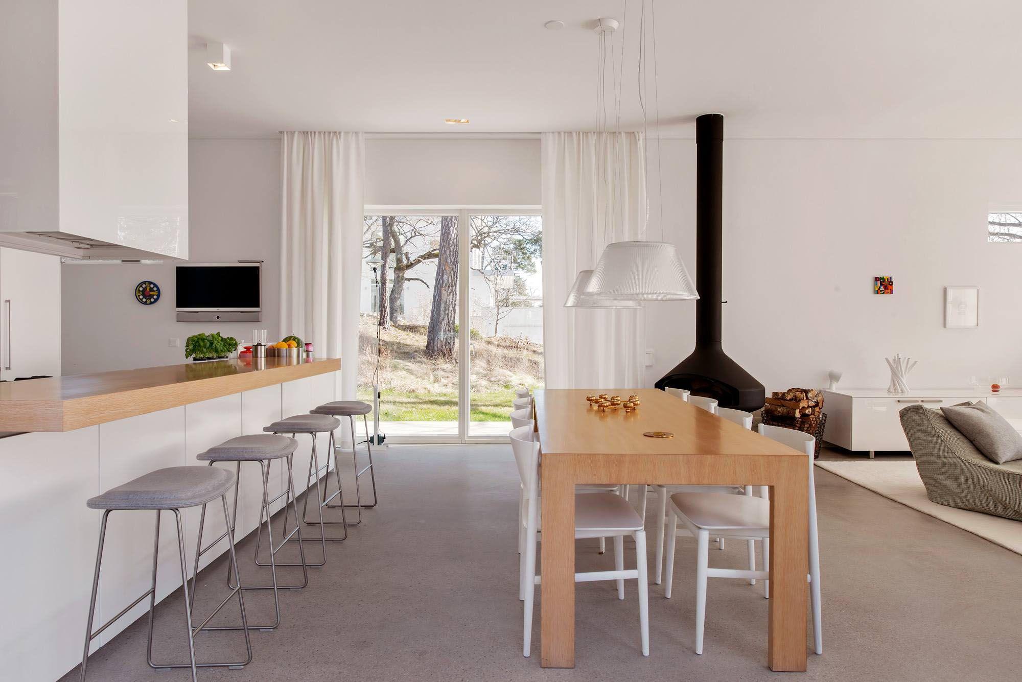 белые шторы в гостиной декор