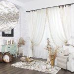 белые шторы в гостиной фото дизайн