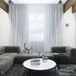 белые шторы в гостиной идеи фото