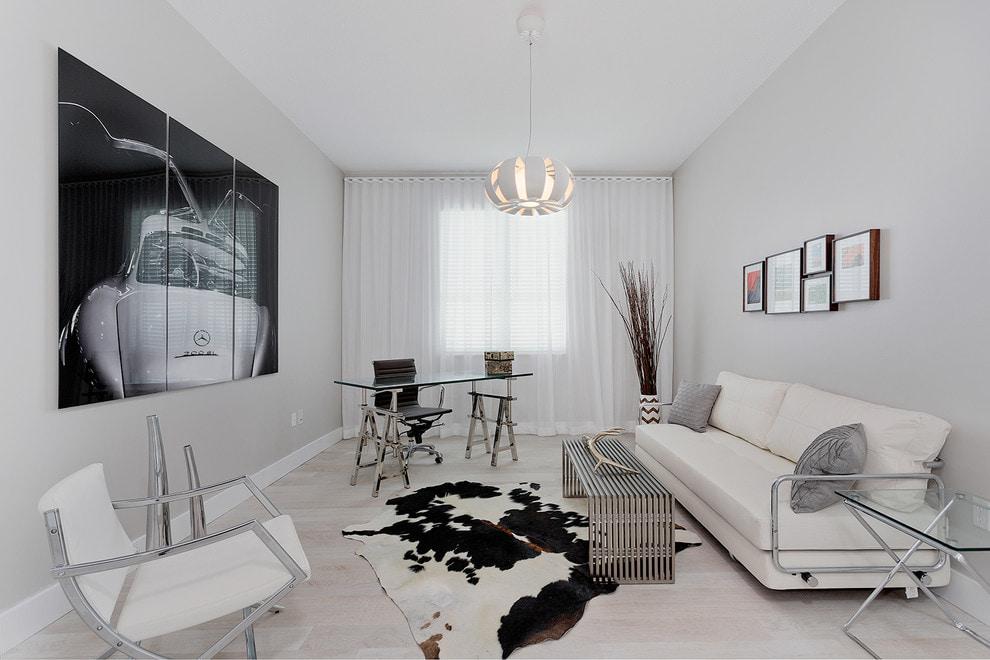 белые шторы в гостиной идеи видов