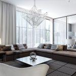 белые шторы в гостиной фото
