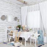 белые шторы в гостиной фото декора
