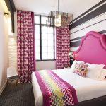 шторы в спальню розовые