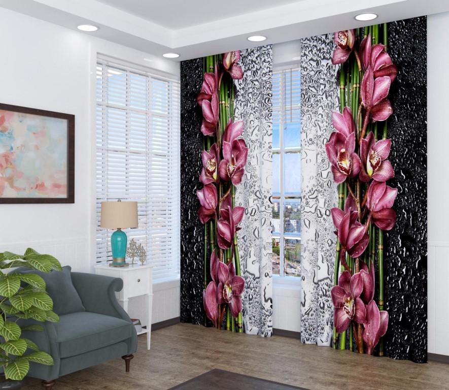 фототюль орхидеи