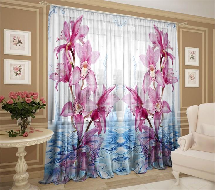 фототюль с орхидеями