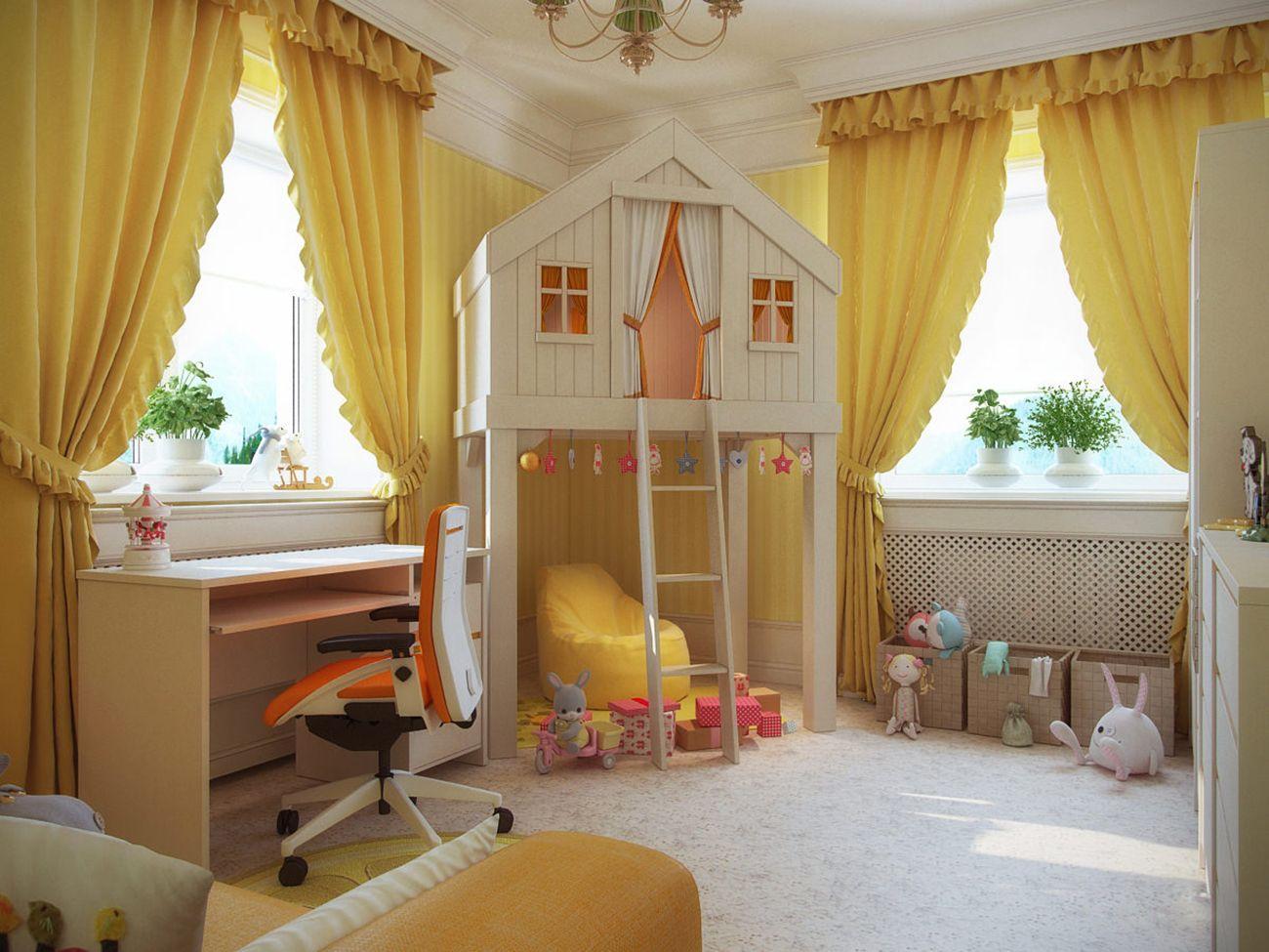 шторы в детскую длина