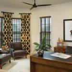 коричневые шторы декор