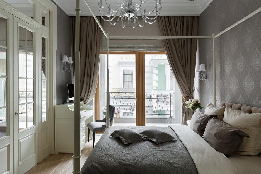 коричневые шторы декор идеи
