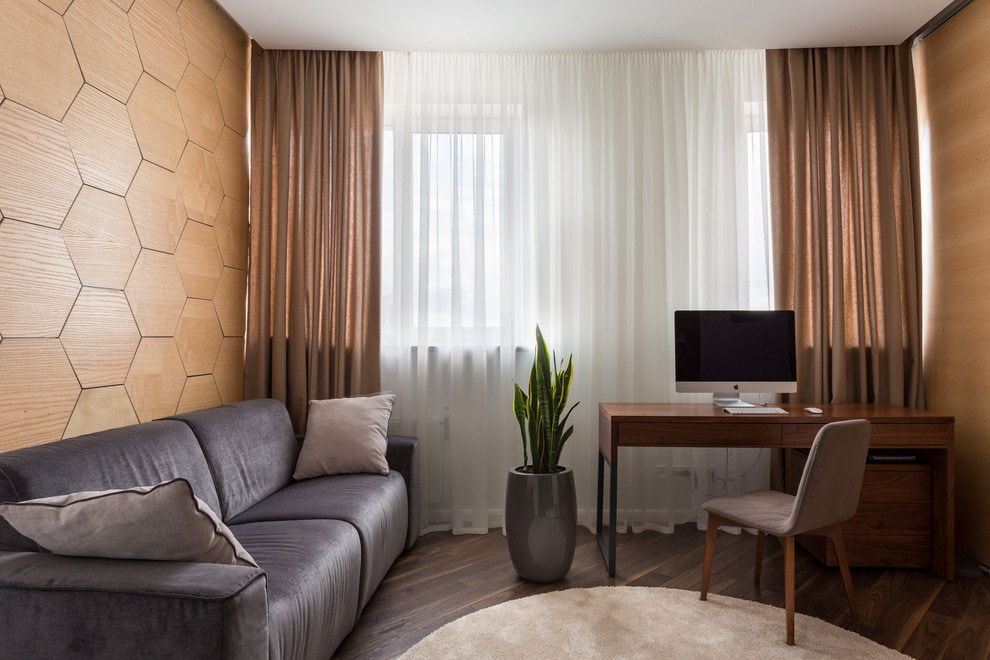коричневые шторы дизайн идеи