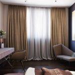 коричневые шторы варианты идеи