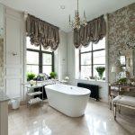 коричневые шторы виды дизайна