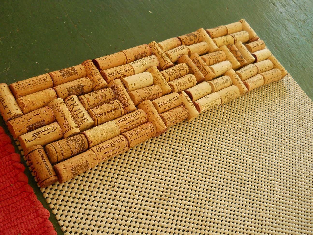 коврик из пробок как сделать