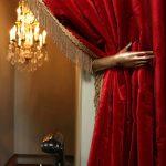 красные шторы фото интерьера
