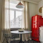 потолочные карнизы для штор и тюли на кухне