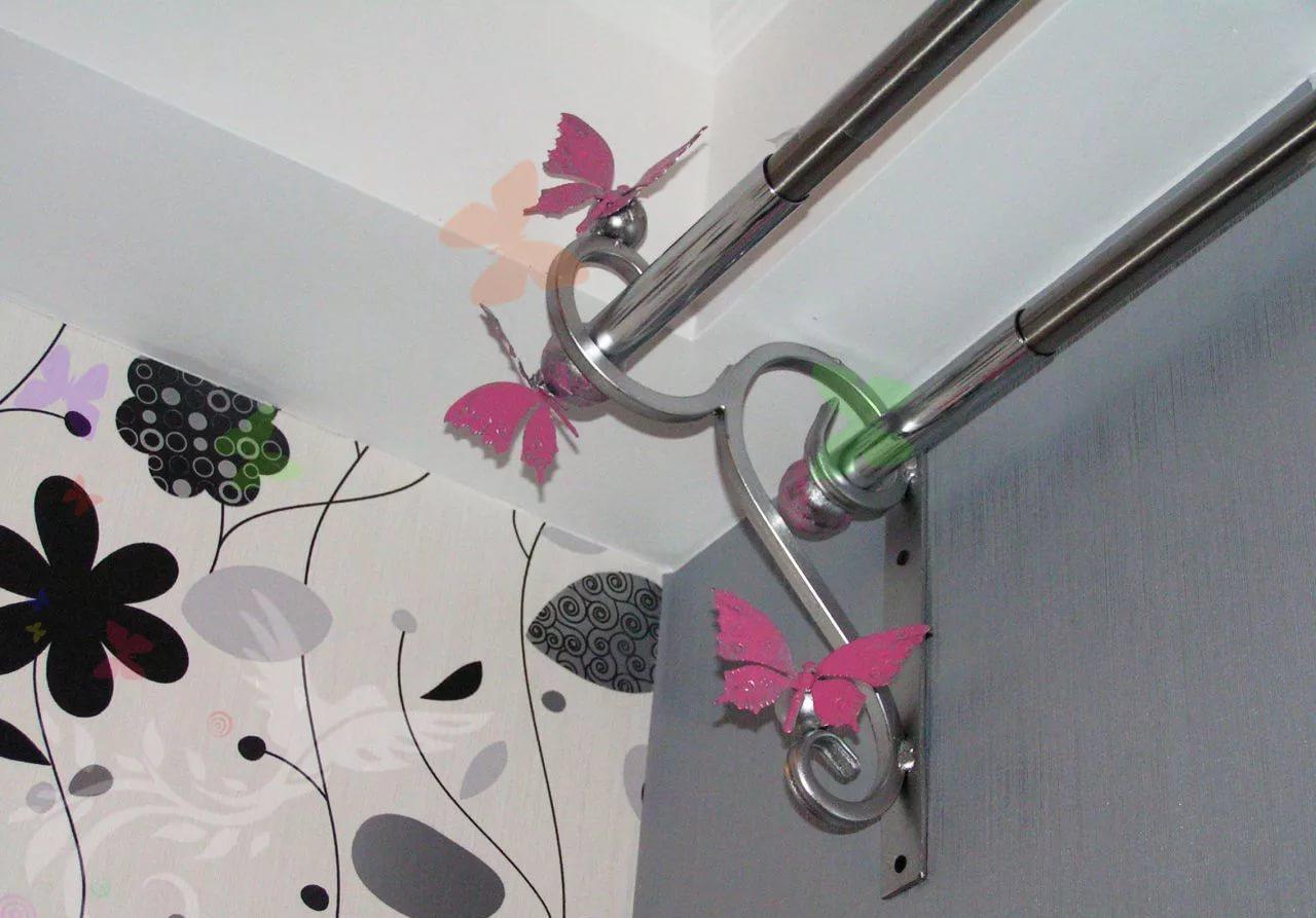 металлические карнизы для штор дизайн идеи