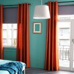 оранжевые шторы