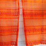 оранжевые шторы декор