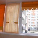 оранжевые шторы декор фото