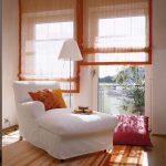 оранжевые шторы дизайн идеи