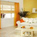 оранжевые шторы фото