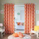 оранжевые шторы фото декора