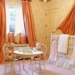 оранжевые шторы фото оформления
