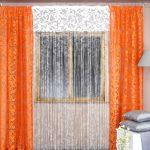оранжевые шторы фото видов