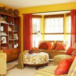 оранжевые шторы идеи