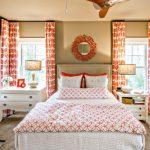 оранжевые шторы идеи декора