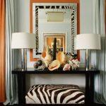 оранжевые шторы идеи фото