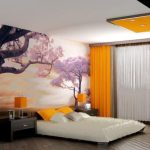 оранжевые шторы идеи интерьера