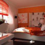 оранжевые шторы идеи оформление