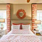 оранжевые шторы идеи оформления