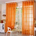 оранжевые шторы идеи варианты