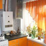 оранжевые шторы идеи виды