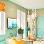 оранжевые шторы оформление фото