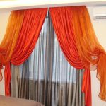оранжевые шторы виды