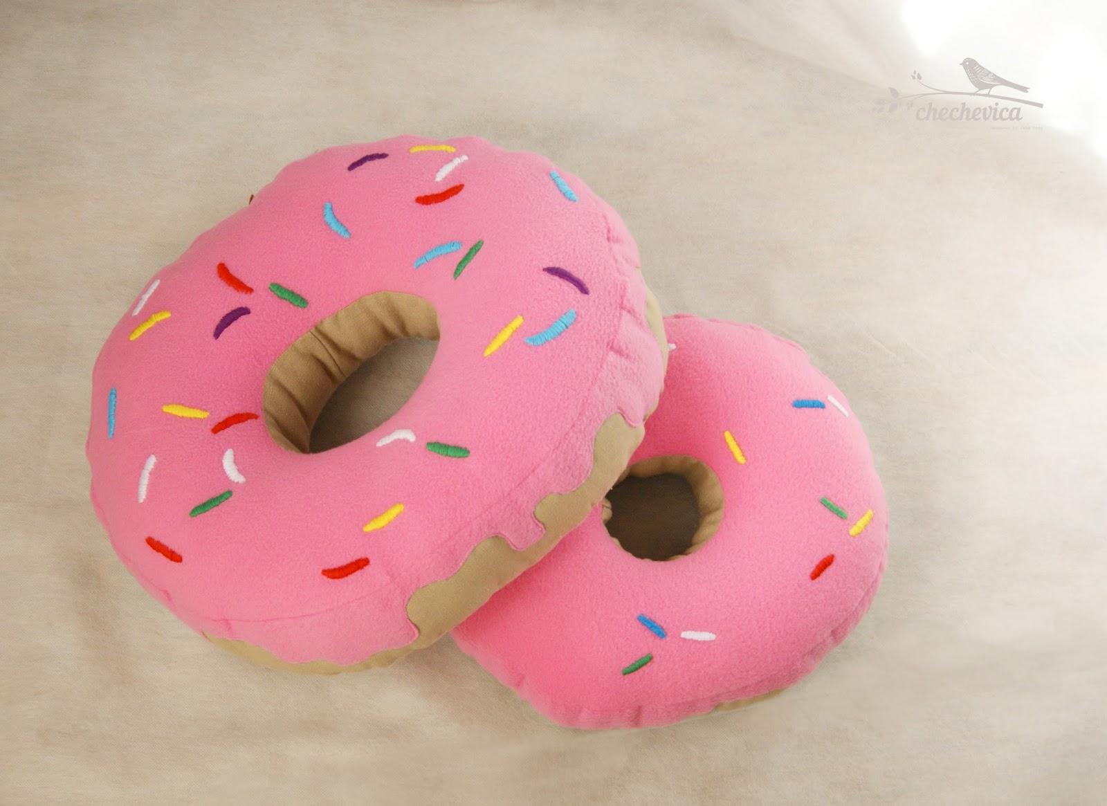 подушка пончик своими руками фото