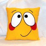 подушка смайлик фото дизайна