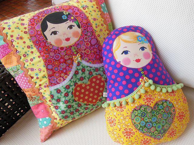 подушки игрушки дизайн идеи