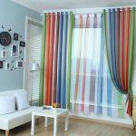 радужные шторы идеи декора