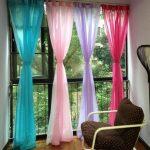 радужные шторы интерьер фото