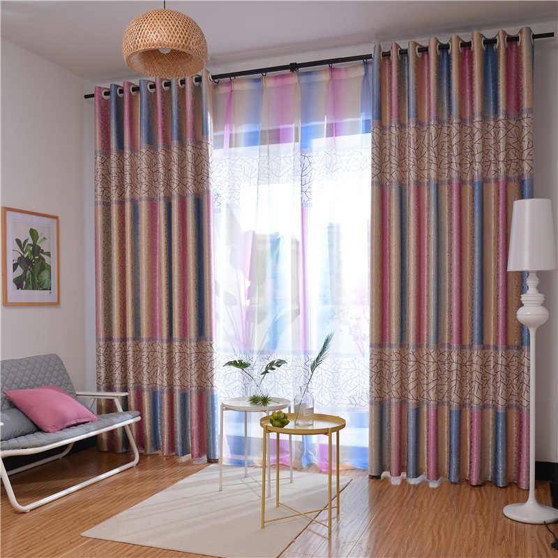 радужные шторы в гостиной