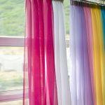 радужные шторы виды интерьера