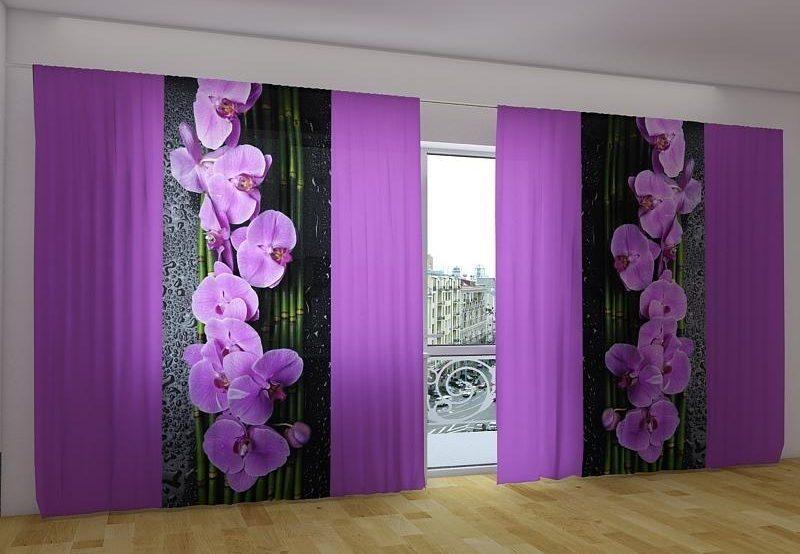 радужные шторы орхидеи