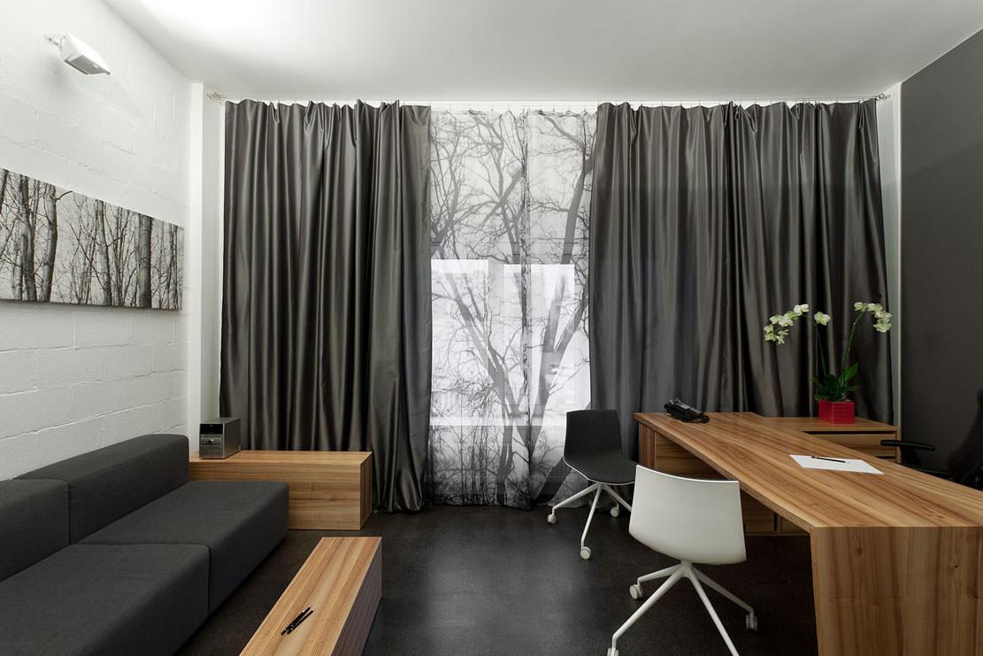 серые шторы фото интерьера