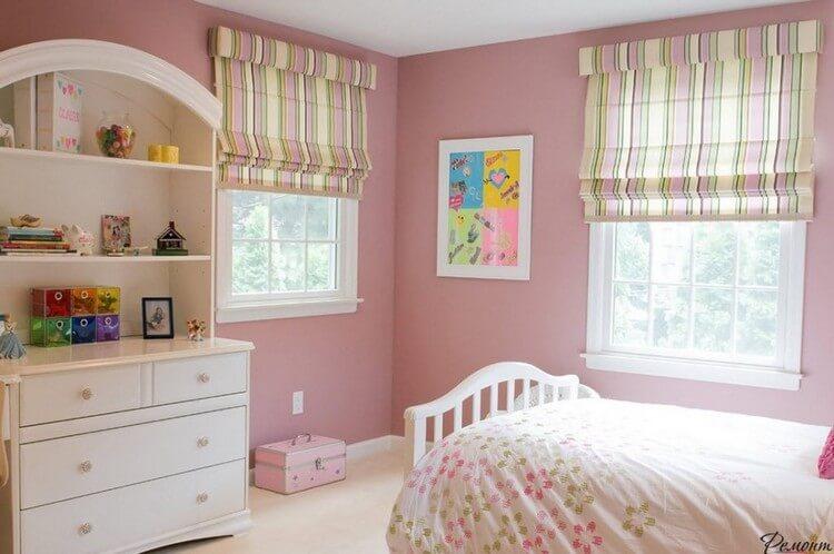 шторы в детскую комнату для девочки дизайн идеи