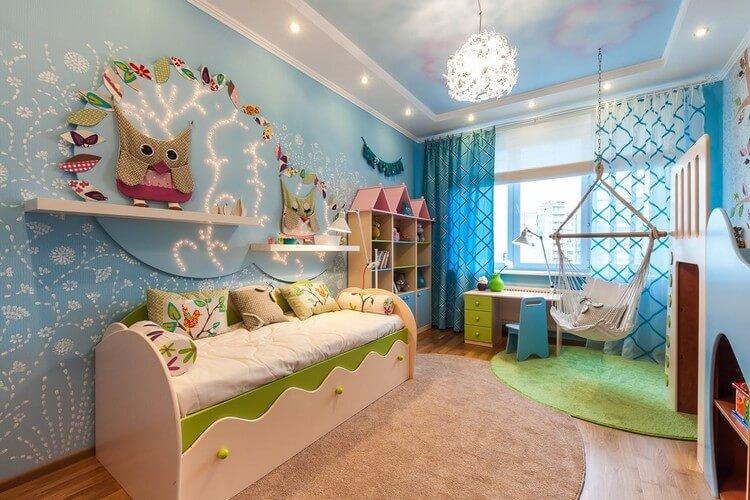 шторы в детскую комнату для девочки фото интерьер