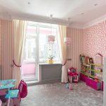 шторы в детскую комнату для девочки фото интерьера