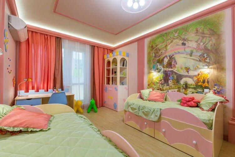 шторы в детскую комнату для девочки идеи интерьер